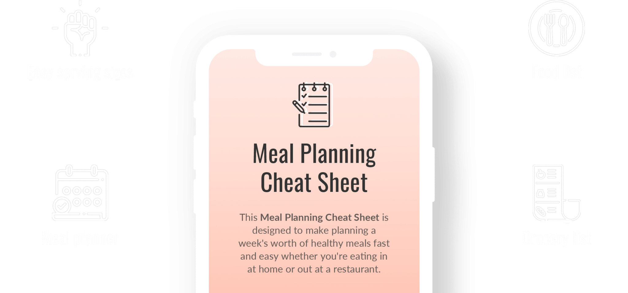 Meal planning cheat sheet
